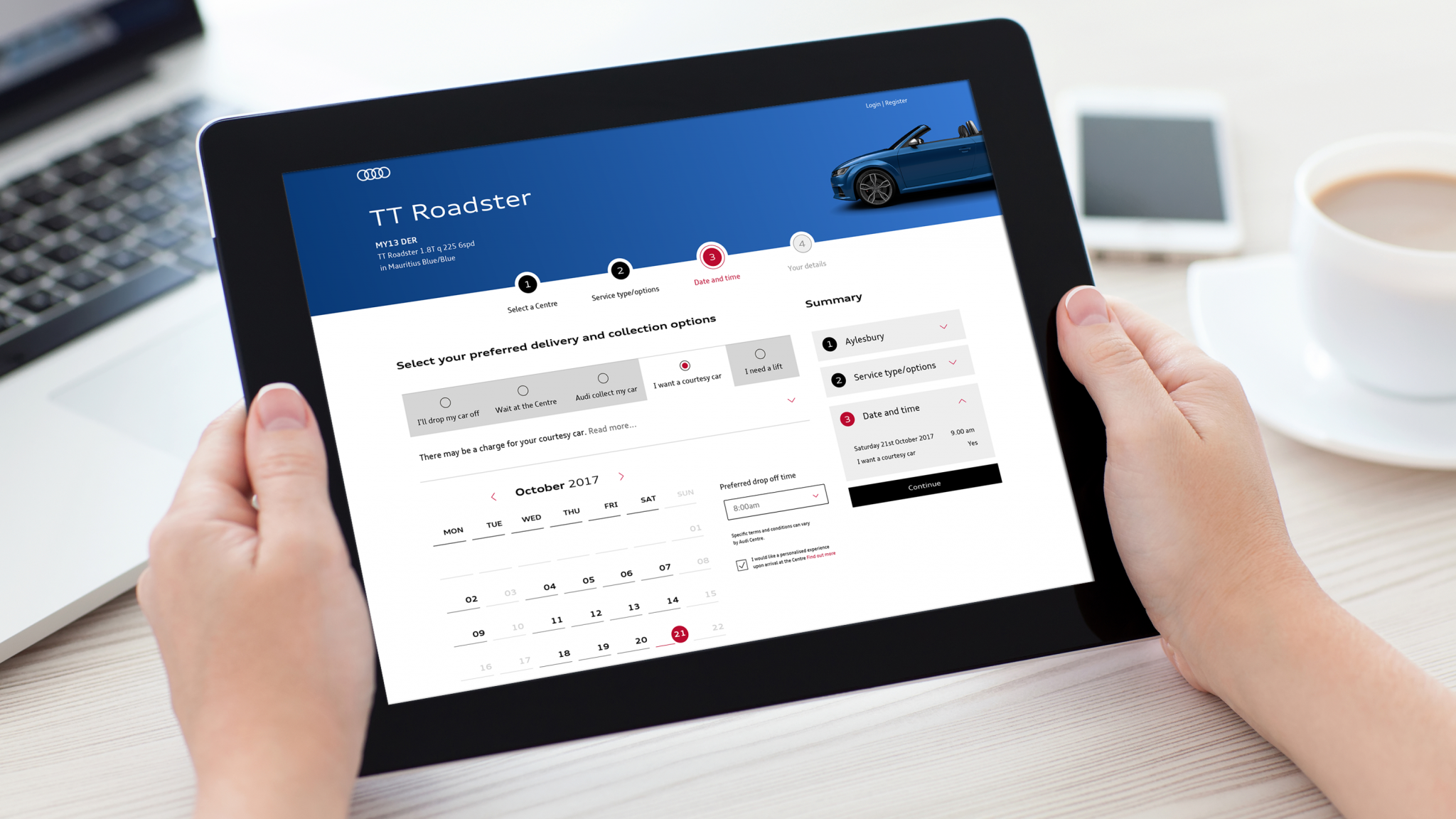 Audi Online Service Booking